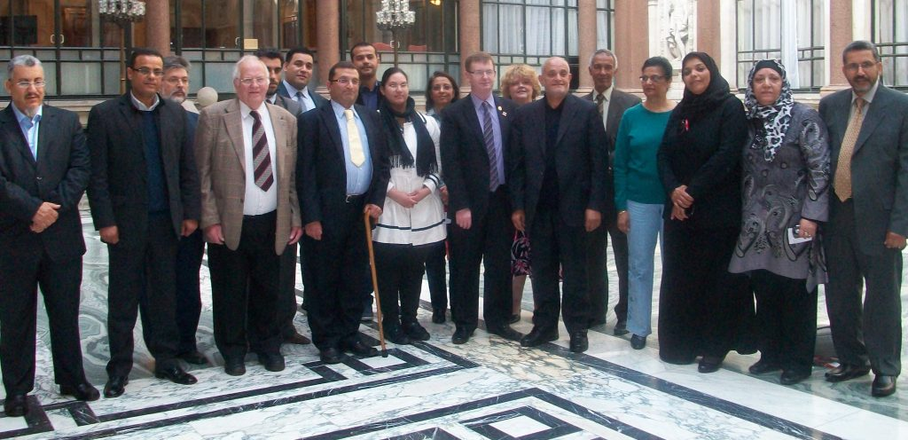 4 DVA members meeting with Gaddafi victims March 2014at FCO